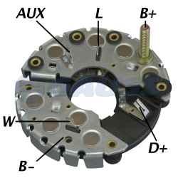 Placa Retificadora Alternadores Bosch Série 469 IR/EF