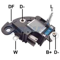 Regulador de Voltagem Alternador Fiat Palio Strada Uno Gm Corsa Denso/ Maraeli GA121
